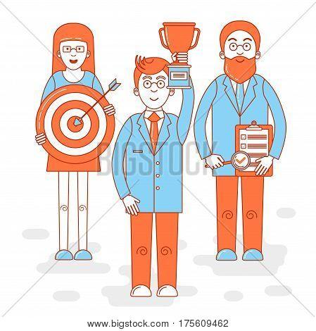 Leadership Colorful Illustration