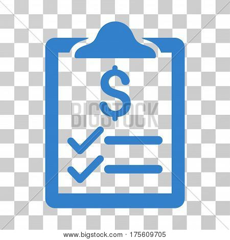 Invoice Pad icon. Vector illustration style is flat iconic symbol cobalt color transparent background. Designed for web and software interfaces.