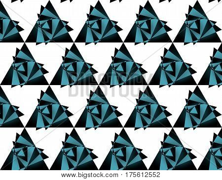 Seamless triangle pattern background, vector illustration, eps 10