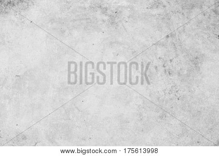 Rough concrete texture photo for background. Shabby chic backdrop. Natural stone surface with drips and dirt. Distressed texture in pale gray tones. Obsolete concrete floor top view photo. Grey stone