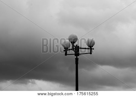 Lamp Post On Rural Road