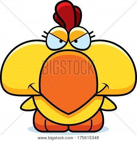 Cartoon Devious Chicken