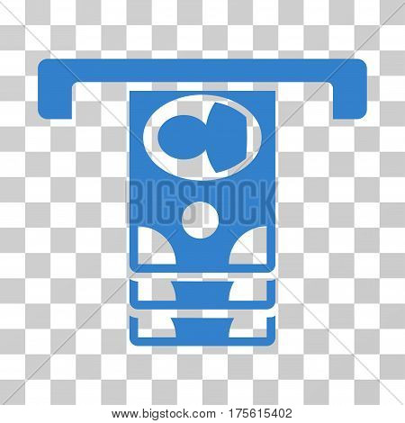 Withdraw Banknotes icon. Vector illustration style is flat iconic symbol cobalt color transparent background. Designed for web and software interfaces.