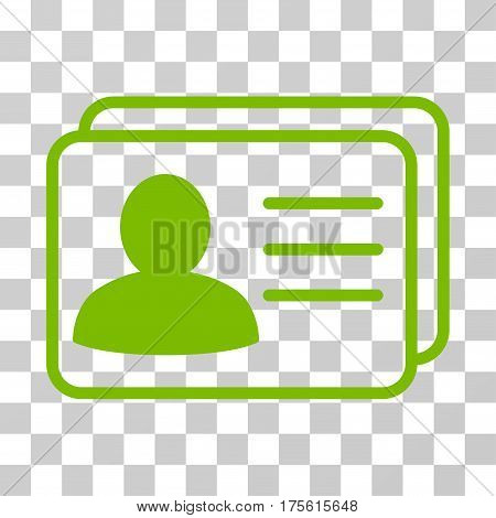 Account Cards icon. Vector illustration style is flat iconic symbol eco green color transparent background. Designed for web and software interfaces.