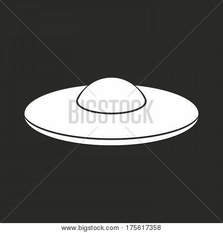 Isolated Vector Illustration Of  A Flying Saucer Ufo