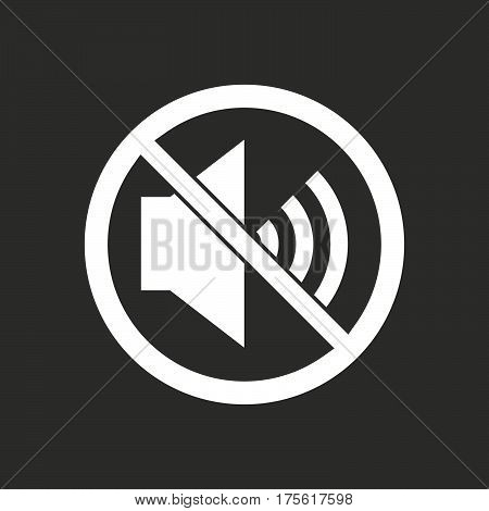 Isolated Vector Illustration Of  A Speaker  In A Not Allowed Signal