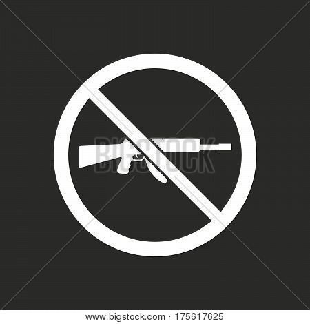 Isolated Vector Illustration Of  A Rifle  In A Not Allowed Signal