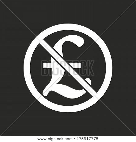 Isolated Vector Illustration Of  A Pound Sign  In A Not Allowed Signal