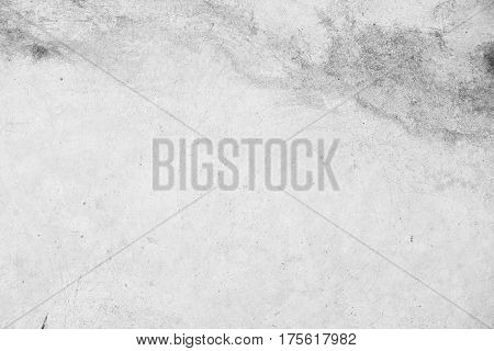Grungy concrete texture photo for background. Shabby chic backdrop. Natural stone surface with drips and dirt. Distressed texture in gray tones. Obsolete concrete floor top view photo. Grey stone poster