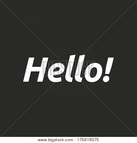 Isolated Vector Illustration Of  The Text Hello!