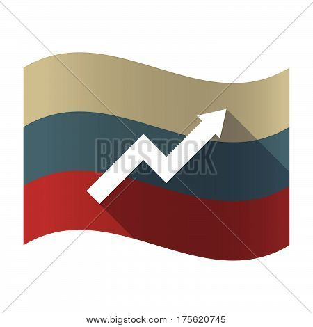 Long Shadow Russia Flag With A Graph