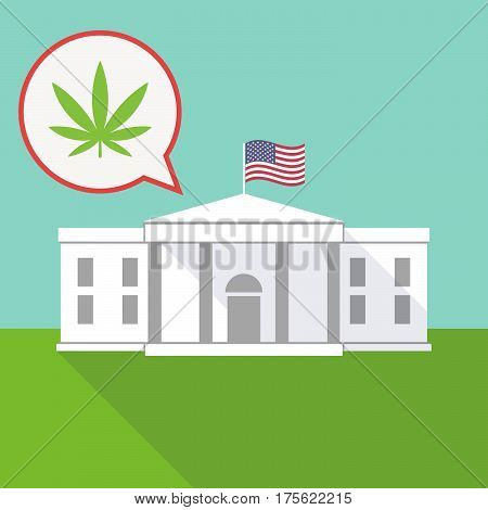 The White House With A Balloon And A Marijuana Leaf