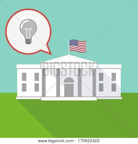The White House With A Balloon And A Light Bulb