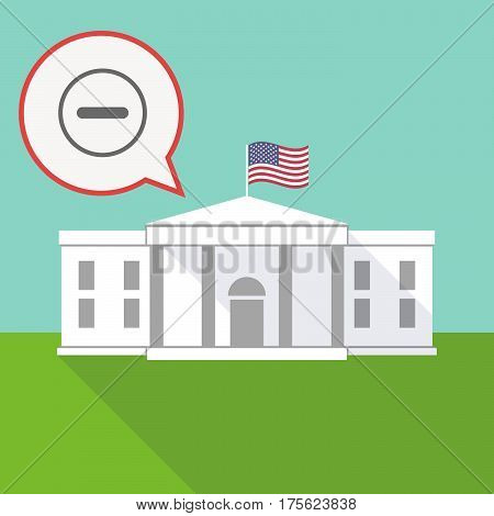 The White House With A Balloon And A Subtraction Sign