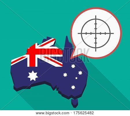 Long Shadow Map Of Australia With A Crosshair
