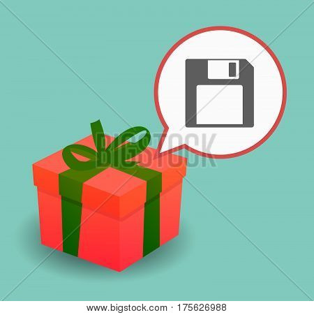 Present With A Floppy Disk