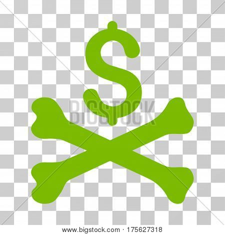 Mortal Debt icon. Vector illustration style is flat iconic symbol eco green color transparent background. Designed for web and software interfaces.