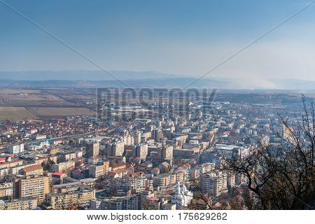 City of Deva seen from the old medieval fortress