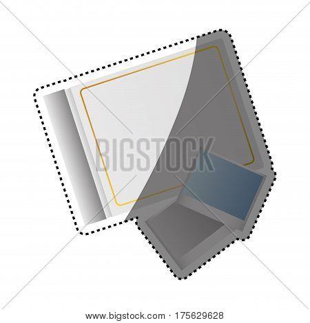Photographic album isolated icon vector illustration graphic design