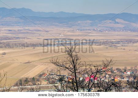 Looking at the City of Deva from the old medieval fortress