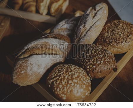 Bakehouse with variety of tasty bread