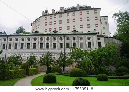 Ambras Castle (schloss Ambras) A Renaissance Sixteenth Century Castle And Palace Located In The Hill