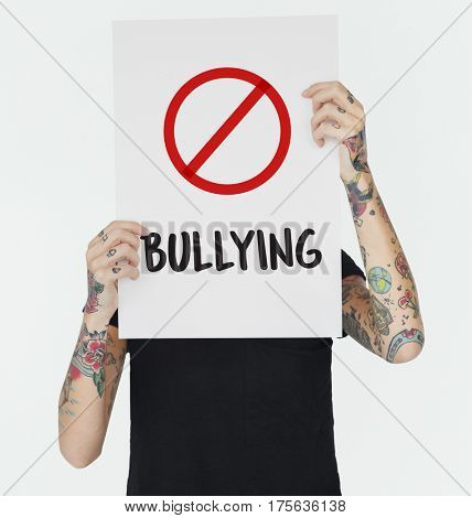 Aggressive Behavior No Bullying Icon