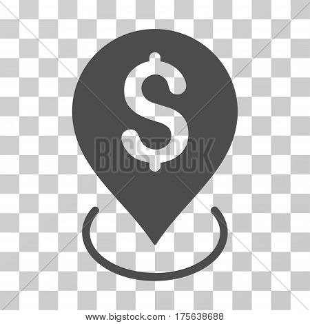 Bank Placement icon. Vector illustration style is flat iconic symbol gray color transparent background. Designed for web and software interfaces.