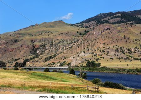 Bridge Across Yellowstone River