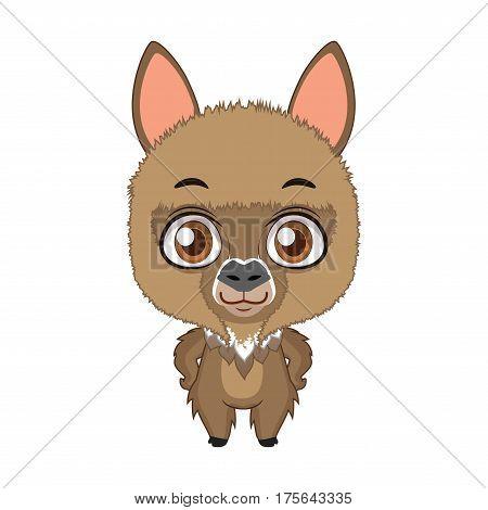 Cute Stylized Cartoon Alpaca Illustration ( For Fun Educational Purposes, Illustrations Etc. )