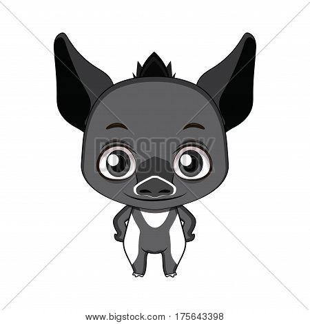 Cute Stylized Cartoon Tapir Illustration ( For Fun Educational Purposes, Illustrations Etc. )