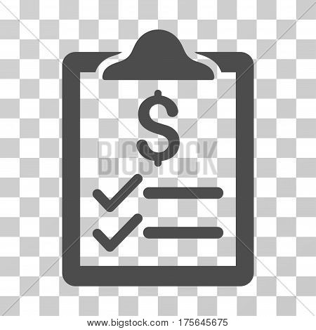 Invoice Pad icon. Vector illustration style is flat iconic symbol, gray color, transparent background. Designed for web and software interfaces.