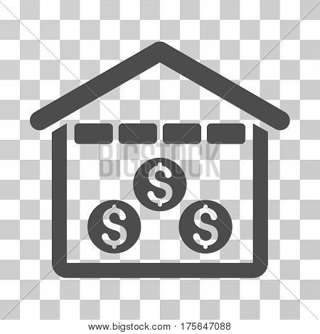 Money Depository icon. Vector illustration style is flat iconic symbol, gray color, transparent background. Designed for web and software interfaces.