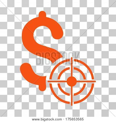 Business Target icon. Vector illustration style is flat iconic symbol, orange color, transparent background. Designed for web and software interfaces.