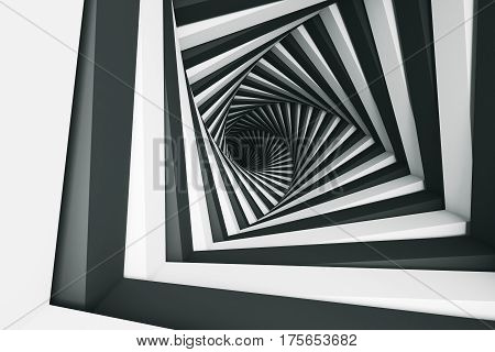 Abstract Striped White And Black Pattern