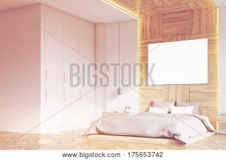 Bedroom With Picture, Ligth Wood, Side, Toned
