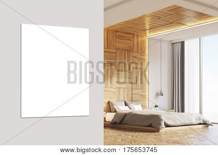 Bedroom With Picture, Light Wood, Close Up