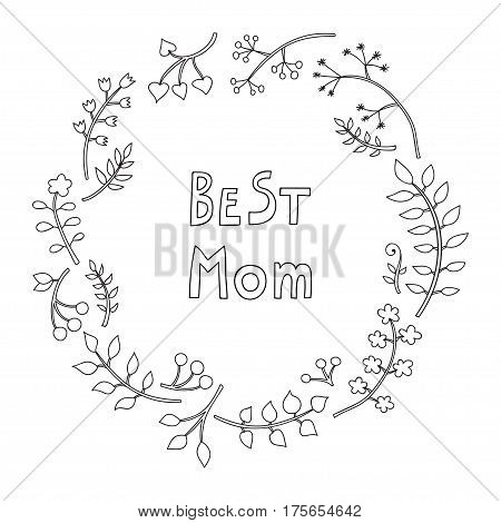 Happy mothers day card. Bright spring concept illustration with flowers. Vector banner.