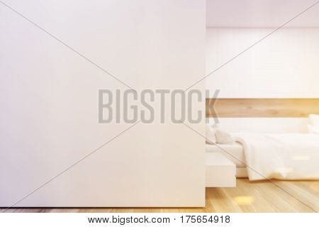 Bedroom Poster Gallery, White Wall, Closeup, Toned