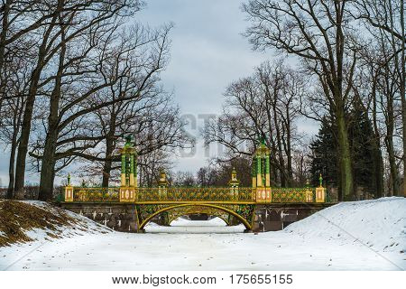 Bridge in China Village Tsarskoe Selo Pushkin Saint Petersburg