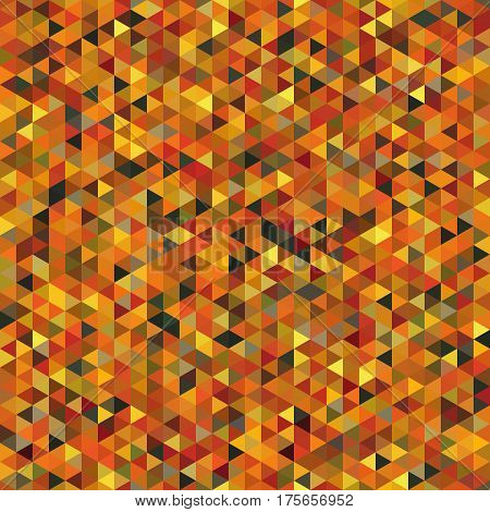 Seamless Pattern of Symmetric Triangles of Autumn Colors. Geometric Continuous Background for Universal Application. Triangular Grid.