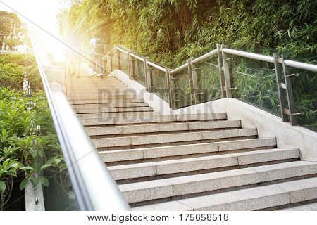 modern city outdoor stairs