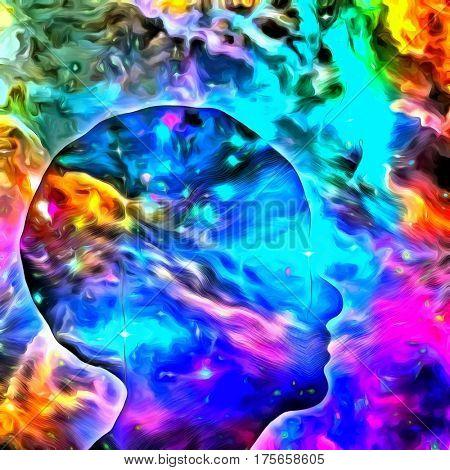 Human Head Mind  3D Render