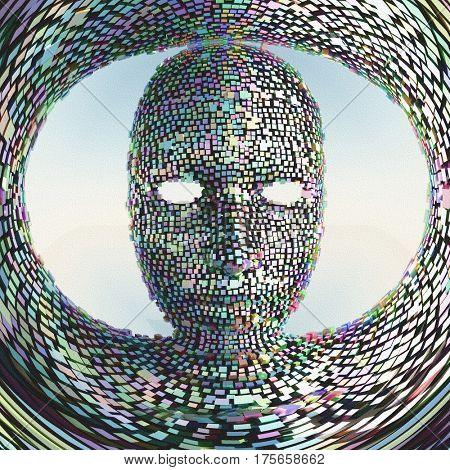 Prismatic Face Mask   3D Render