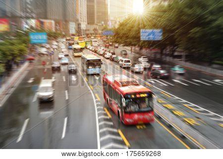 Guangzhou congested road traffic