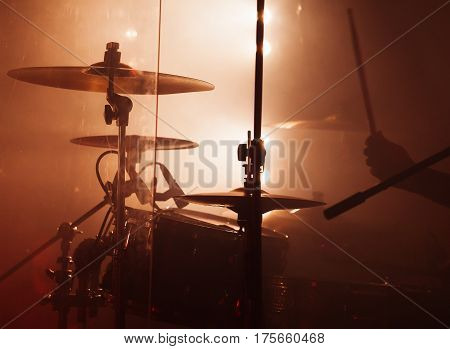 Rock Drum Set  With Cymbals