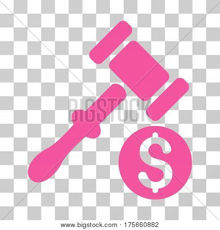 Auction icon. Vector illustration style is flat iconic symbol, pink color, transparent background. Designed for web and software interfaces.