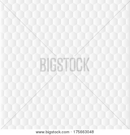 Honeycomb grid pattern in light grey colors. Seamless background