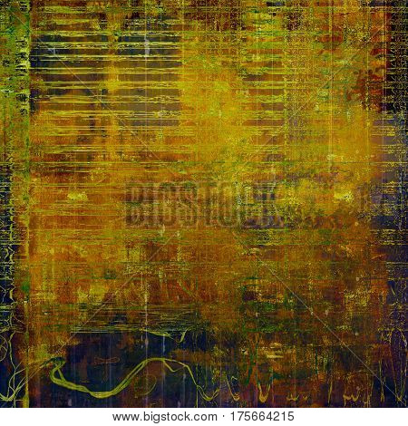 Retro style abstract background, aged graphic texture with different color patterns: yellow (beige); brown; green; blue; red (orange)