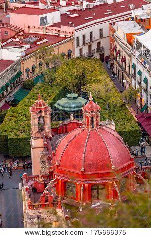 Templo de San Diego Jardin Union Garden Guanajuato Mexico From Le Pipila Overlook